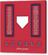 Anaheim Angels Art - Mlb Baseball Wall Print Canvas Print