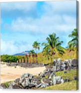 Anakena At Easter Island Canvas Print