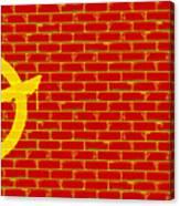 Anarchy Graffiti Red Brick Wall Canvas Print