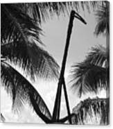 Anchor In Black And White Canvas Print