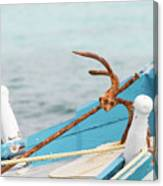 Anchor On A Boat In Maldives Canvas Print