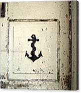 Anchor On Old Door Canvas Print