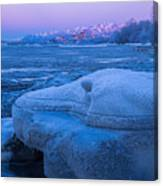 Anchorage Icebergs Canvas Print