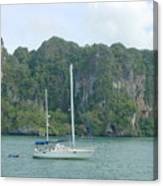 Anchored In Paradise Canvas Print