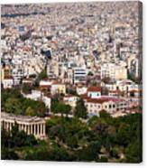 Ancient Agora Of Athens Canvas Print