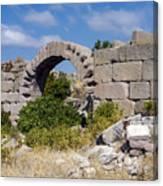 Ancient Bergama Acropolis Ruins Canvas Print