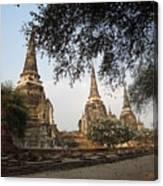 Ancient Buddhist Stupas Canvas Print