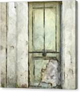 Ancient Doorway Rome Italy Pencil Canvas Print