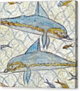 Ancient Greek Dolphins Canvas Print