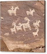 Ancient Hieroglyphics In Arches National Park Canvas Print