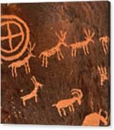 Ancient Indian Petroglyphs Canvas Print