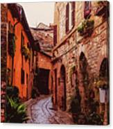 Ancient Italian Village Canvas Print