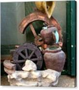 Model Of Ancient Water Mill In Greece  Canvas Print