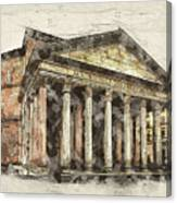 Ancient Pantheon Canvas Print