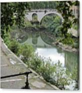 Ancient Roman Foot Bridge Canvas Print