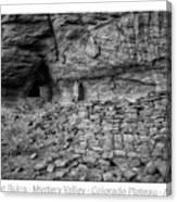 Ancient Ruins Mystery Valley Colorado Plateau Arizona 02 Bw Text Canvas Print