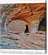 Ancient Ruins Mystery Valley Colorado Plateau Arizona 05 Text Canvas Print
