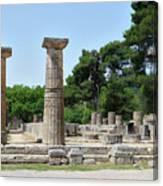 Ancient Ruins Wide Columns Canvas Print