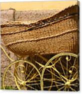 Ancient Swedish Baby Carriage Canvas Print