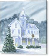 Anderson Mansion Christmas Canvas Print