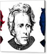 Andrew Jackson Red White And Blue Canvas Print