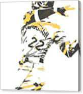 Andrew Mccutchen Pittsburgh Pirates Pixel Art 1 Canvas Print