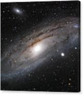 Andromeda Galaxy Lightened Canvas Print