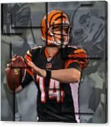 Andy Dalton Cincinnati Bengals Blocks Canvas Print