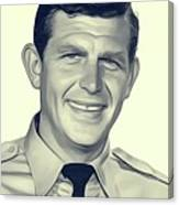 Andy Griffith, Vintage Actor Canvas Print