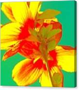 Andy Warhol Inspired Yellow Flower Canvas Print