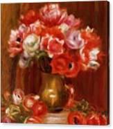 Anemones 1909 Canvas Print