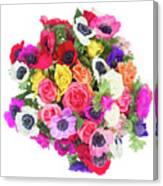 Bouquet Of Anemones Canvas Print