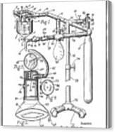 Anesthetic Machine Patent 1919  Canvas Print