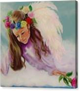 Angel Above Canvas Print