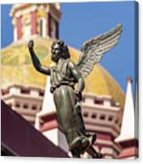 Angel And Cathedral Canvas Print