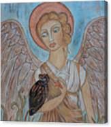 Angel And Owl Canvas Print
