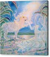 Chloe The Flying Lamb Productions.            Ask The Beasts And They Will Teach You. Canvas Print