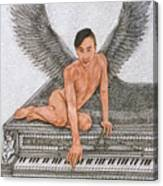 Angel And The Piano Canvas Print