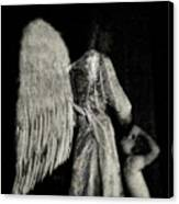 Angel Bw Canvas Print