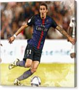 Angel Di Maria Controls The Ball Canvas Print