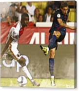 Angel Di Maria Shoot The Ball Canvas Print