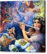 Angel Flute Canvas Print