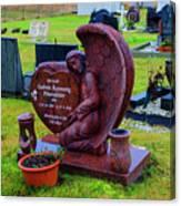 Angel Guarding Grave Hvalsneskirkja Graveyard Iceland Canvas Print