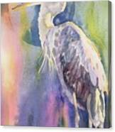 Angel Heron Canvas Print