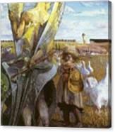 angel i will follow you Jacek Malczewski Canvas Print
