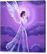 Angel In Amethyst Moonlight Canvas Print