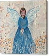 Angel In Blue Canvas Print