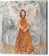 Angel In Orange Canvas Print