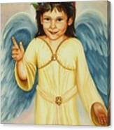 Angel In Yellow Canvas Print