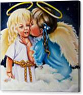 Angel Kiss Canvas Print
